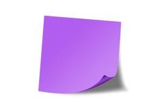 заметьте пурпуровое липкое Стоковые Изображения