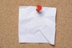 Заметьте сморщенную белизну с красной отметкой стоковое изображение