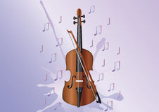 замечает скрипку Стоковое Изображение RF
