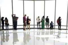замечание khalifa Дубай палубы burj Стоковое Изображение RF