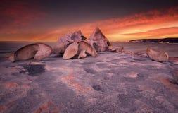 Замечательный заход солнца Стоковая Фотография RF