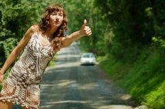 заминка hiker милая Стоковая Фотография