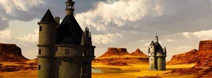 2 замка в горах Стоковая Фотография