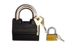 2 замка с ключами Стоковая Фотография