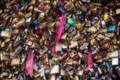 Замки влюбленности Стоковая Фотография