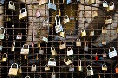 Замки влюбленности Стоковое Изображение RF