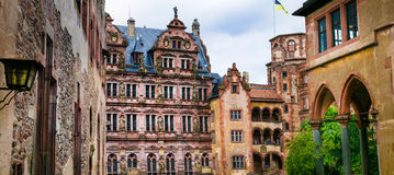 Замки Гейдельберга - Германия Стоковая Фотография RF