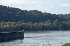 Замки и запруда на Реке Огайо стоковое фото rf