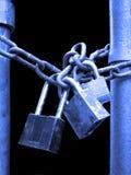 Замки и цепная безопасность Стоковые Изображения