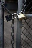 Замки и цепная безопасность Стоковые Изображения RF