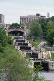 Замки канала Rideau, Оттавы Стоковое фото RF