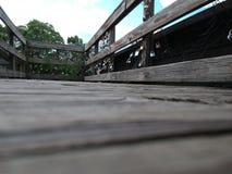 Замки любов на мосте James River стоковая фотография rf