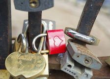 Замки на мосте любовников Стоковое Изображение RF