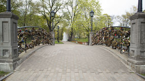 Замки на мосте любовников Стоковое фото RF