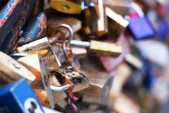Замки на мосте Стоковая Фотография RF