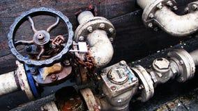 замки рукоятк metal клапаны труб Стоковая Фотография
