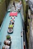 Замки Foxton на грандиозном канале соединения, Лестершире, Великобритании Стоковые Изображения RF