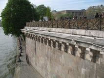 Замки Pont Neuf и влюбленности Стоковое фото RF