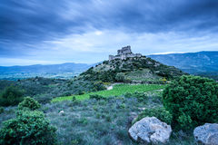 Замоки d'Aguilar на зоре стоковое фото