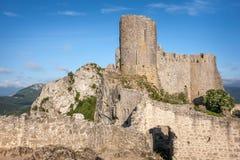 Замоки Peyrepertuse стоковые изображения rf