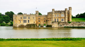 замок Англия leeds Стоковые Фотографии RF