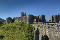 Замок Англия Corfe Стоковое Изображение RF