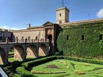 Замок Барселоны стоковое изображение