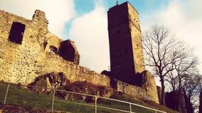 Замок башни старый стоковые фото