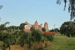 Замок Беларусь Mir стоковые изображения rf