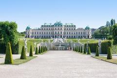 Замок бельведера в вене стоковые изображения
