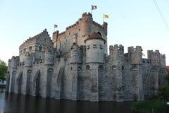 Замок Бельгия Европа Gravensteen Стоковые Фото