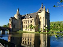 Замок Бельгия Европа Kasteel фургон Laarne Стоковые Фотографии RF