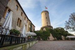 Замок Билефельд Германия Sparrenburg стоковая фотография rf