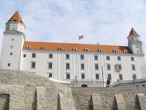 Замок Братиславы, Словакия Стоковые Фото