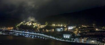 Замок бульона на ноче Стоковое Фото