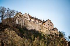 Замок Вадуц na górze горы Стоковая Фотография RF