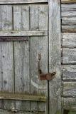 замок двери старый Стоковые Фото
