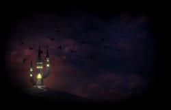 Замок ведьмы иллюстрация вектора