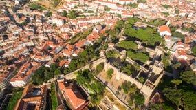 Замок взгляда St. George Лиссабона сверху Стоковое Изображение RF