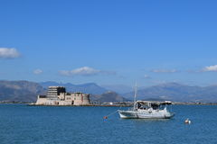 Замок воды в Nafplio, Греции Стоковое Изображение