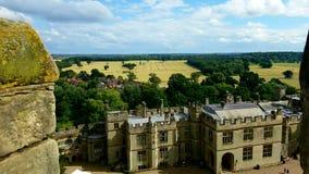 Замок в английской сельской местности Стоковое Фото