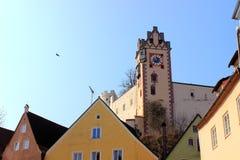 Замок в баварском ¼ FÃ ssen стоковые фото