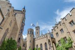 Замок в Бадене-Wurttemberg, Германия Hohenzollern Стоковое Изображение RF