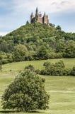 Замок в Бадене-Wurttemberg, Германия Hohenzollern Стоковые Изображения RF