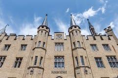 Замок в Бадене-Wurttemberg, Германия Hohenzollern Стоковые Фотографии RF