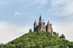 Замок в Бадене-Wurttemberg, Германия Hohenzollern Стоковые Фото