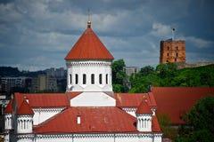 Замок в Вильнюс Стоковые Изображения RF