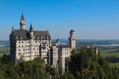 Замок в Германии популярной и специальной Стоковые Изображения RF