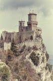 Замок в городе Сан-Марино Стоковое фото RF