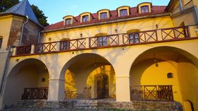 Замок в заходе солнца, Литва Norviliskiu сток-видео